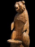 Садовая мебель. Резное кресло медведь