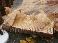 скульптура бензопилой