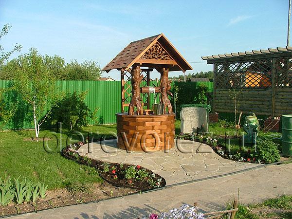 Деревянный колодец на даче своими руками фото