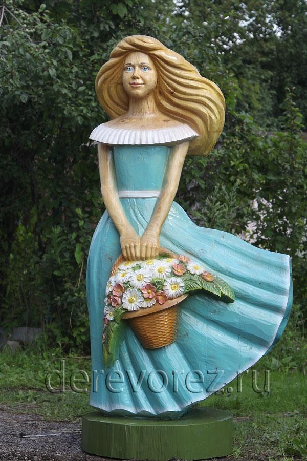 Алеся. Садовая скульптура по мотивам знаменитой песни