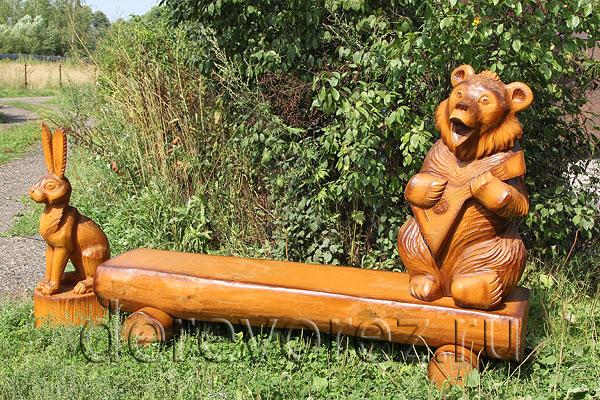 Как сделать медведя из бревна своими руками