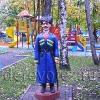 Скульптура казака