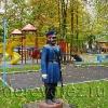 Парковая скульптура. Офицер с шашкой