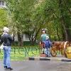 Парковая скульптура. Часовой